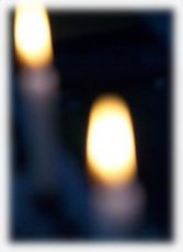 Church Candle out of focus