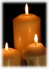 Church candle background 1