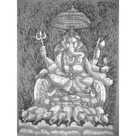 Ganesh Drawn by Mice Batik Large