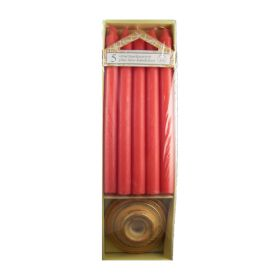 5 Pack Pillar Candles & Base