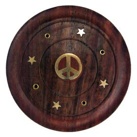 Embossed Incense Coasters - CND Peace Sign