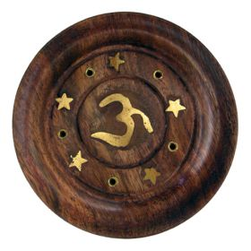 Embossed Incense Coasters - Om