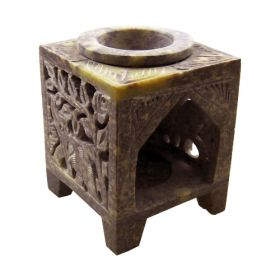 Soapstone Elephant Oil Burner - Small