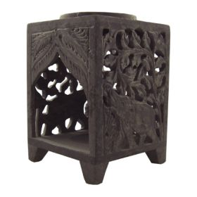 Soapstone Elephant Oil Burner - Large