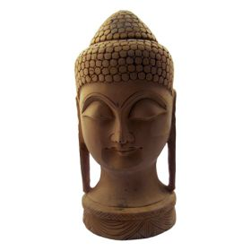 Hand Carved Wooden Buddha Statue - Large