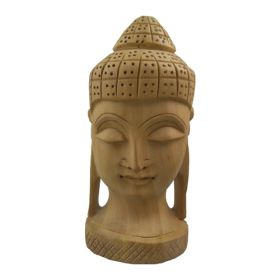 Hand Carved Wooden Buddha Statue - Medium
