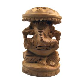 Wooden Lord Ganesh Statuette