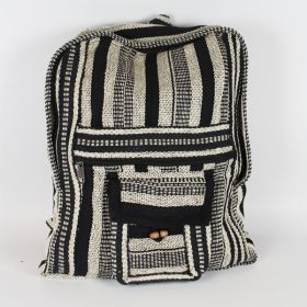 Woven Back Pack - Black & White