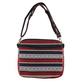 Woven Tablet Bag - Red & Navy