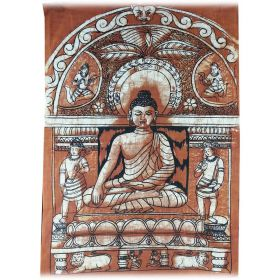 Buddha Bhumisparsa Batik Small - Brown