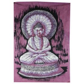 Buddha Dhyana Batik Small - Purple