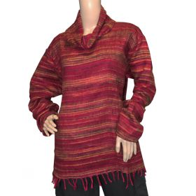 Super Soft Roll Neck Jumpers - Crimson