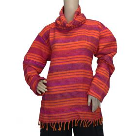 Super Soft Roll Neck Jumpers - Neon Orange