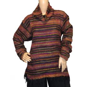 Super Soft Roll Neck Jumpers - Black Rainbow