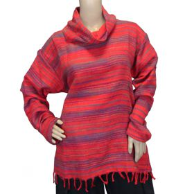 Super Soft Roll Neck Jumpers - Bright Red