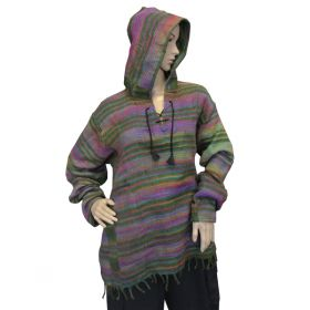 Super Soft Pirate Hoodies - Green Rainbow