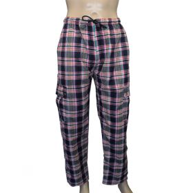 Trinity Chequered Flannel Combat Trousers - XL