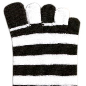 Toe Socks - White & Black
