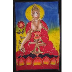 Batik - Buddha with Flower
