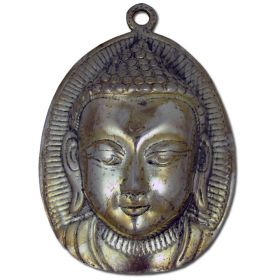 Oval Plaque Buddha Head - Polished