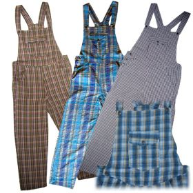 Medium Funky Chequered Dungarees