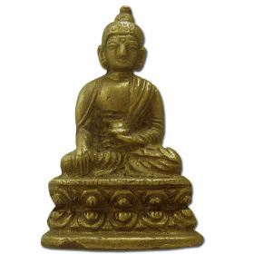 Brass Buddha Statuette - Polished Brass